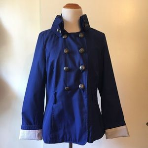 Black rivet royal blue jacket size:M